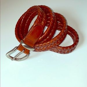 COACH Woven Brown Leather Belt